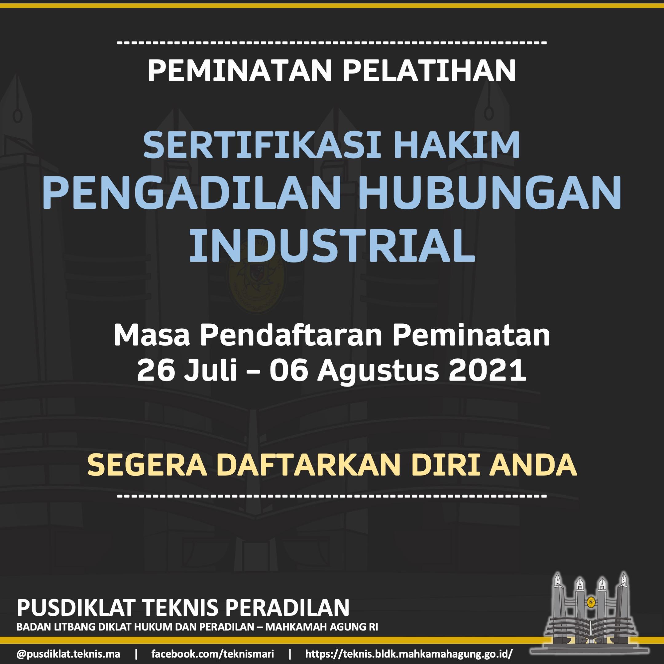 Peminatan Sertifikasi Hakim Pengadilan Hubungan Industri