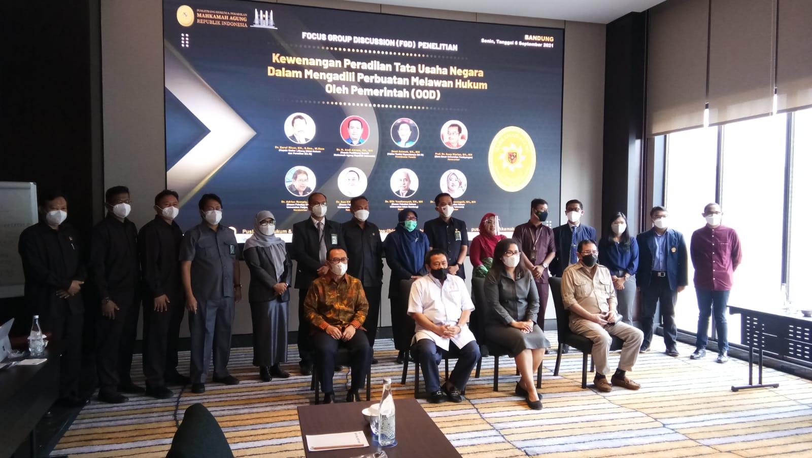 Focus Group Discussion Kewenangan Peradilan tata Usaha Negara dalam Mengadili Perbuatan Melawan Hukum Pemerintah (OOD)