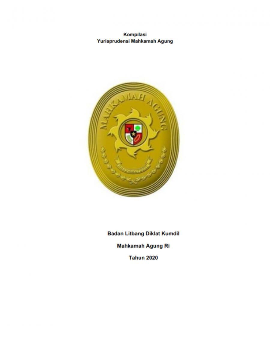 Kompilasi Yurisprudensi Mahkamah Agung