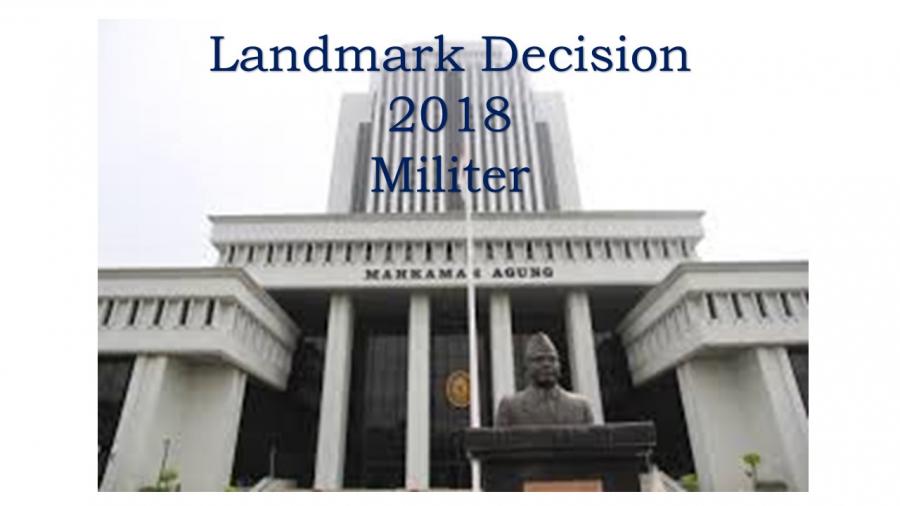 LANDMARK DECISION 2018 MILITER