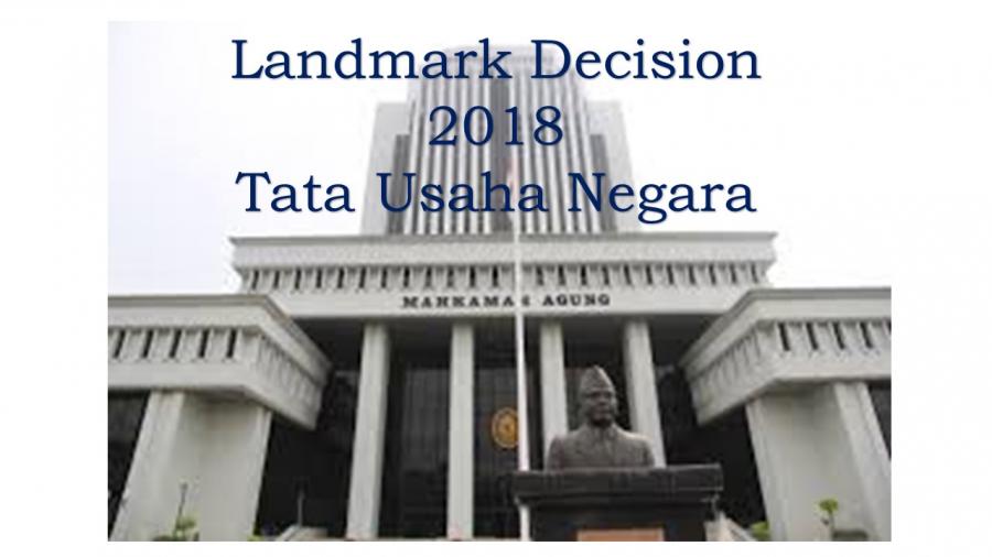 LANDMARK DECISION 2018 TUN